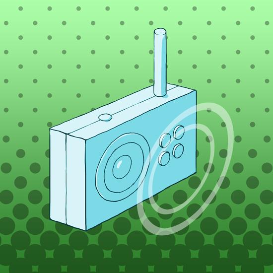 ラジオ(モダンな感じ)