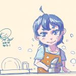 絵日記:皿洗い